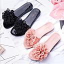 cheap Women's Slippers & Flip-Flops-Women's Shoes PVC Leather Summer Comfort Slippers & Flip-Flops Flat Heel Black / Pink