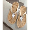 cheap Women's Slippers & Flip-Flops-Women's Shoes PU(Polyurethane) Summer Comfort Slippers & Flip-Flops Flat Heel Black / Beige / Fuchsia