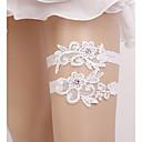 billige Modeure-Blondelukning Bryllup / Brude Bryllup Garter  -  Imiterede Perler Strømpebånd Bryllup / Fest