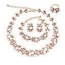 tanie Zestawy biżuterii-Damskie Biżuteria Ustaw - Imitacja pereł, Pozłacane Klasyczny, Modny Zawierać Zestawy biżuterii ślubnej Złoty Na Ślub / Party Wieczór