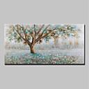 levne Krajiny-Hang-malované olejomalba Ručně malované - Krajina Květinový / Botanický motiv Moderní Obsahovat vnitřní rám / Reprodukce plátna