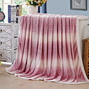 cheap Table Lamps-Coral fleece, Reactive Print Striped / Geometric Cotton / Polyester Blankets