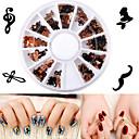 cheap Blush Brushes-1 pcs Nail Jewelry Artistic nail art Manicure Pedicure Casual / Daily Metallic