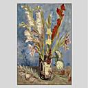 tanie Obrazy: martwa natura-Hang-Malowane obraz olejny Ręcznie malowane - Martwa natura Nowoczesny Brezentowy / Rozciągnięte płótno