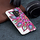 olcso Mobiltelefonok Screen Protectorr-Case Kompatibilitás Samsung Galaxy S9 Plus / S9 Minta Fekete tok Virág Kemény PC mert S9 / S9 Plus / S8 Plus
