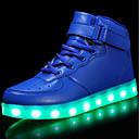 tanie Obuwie dziewczęce-Dla chłopców / Dla dziewczynek Obuwie Materiał do wyboru / Derma / PU Jesień Wygoda / Świecące buty Adidasy Spacery Sznurowane / Haczyk i pętelka / LED na Czerwony / Niebieski / Różowy