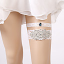 ieftine Jartiere de Nuntă-Dantelă Stil Vintage Nunta Garter Cu Piatră Semiprețioasă / Găuri Jartiere Nuntă / Party & Seară