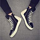 זול נעלי אוקספורד לגברים-בגדי ריקוד גברים PU אביב / סתיו נוחות נעלי ספורט שחור / שחור לבן