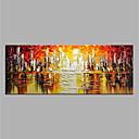 povoljno Ulja na platnu-Hang oslikana uljanim bojama Ručno oslikana - Sažetak Moderna Bez unutrašnje Frame / Valjani platno
