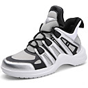 cheap Women's Athletic Shoes-Women's Shoes Tulle Fall & Winter Comfort Athletic Shoes Running Shoes Flat Heel Black / Silver / Black / White / Light Blue