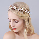 billige Syntetiske parykker med blonde-Imitert Perle / Strass pannebånd med Krystall / Rhinestone 1 Deler Bryllup / Fest / aften Hodeplagg