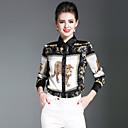 preiswerte Backformen-Damen Tier - Street Schick Hemd Druck