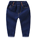 tanie Zestawy ubrań dla dziewczynek-Dzieci Unisex Podstawowy Geometryczny Niejednolita całość Bawełna Jeansy
