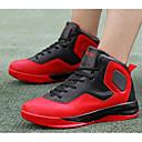 זול סניקרס לגברים-בגדי ריקוד גברים PU סתיו נוחות נעלי אתלטיקה כדורסל שחור לבן / שחור אדום / שחור וצהוב