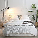 cheap Solid Duvet Covers-Duvet Cover Sets Solid Colored Cotton Jacquard / Polyster Applique 4 Piece