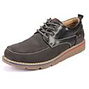 cheap Men's Boots-Men's Nubuck leather Winter Comfort Oxfords Dark Blue / Gray / Light Brown