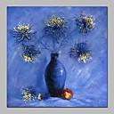 זול ציורי סגנון חיים-ציור שמן צבוע-Hang מצויר ביד - טבע דומם / פרחוני / בוטני וינטאג' בַּד
