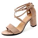 ieftine Genți De Seară & Plicuri-Pentru femei Pantofi Piele de Căprioară / PU Primăvară / Vară Confortabili Sandale Toc Îndesat Negru / Bej / Roz