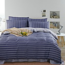 preiswerte Geometrische Duvet Covers-Bettbezug-Sets Stripes / Ripples 100% Baumwolle Reaktivdruck 4 Stück