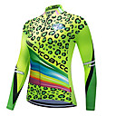 cheap Cycling Jerseys-CYCOBYCO Women's Long Sleeve Cycling Jersey Green Leopard Plus Size Bike Sweatshirt Jersey Top Quick Dry Reflective Strips Sports Polyester 100% Polyester Mountain Bike MTB Road Bike Cycling Clothing