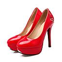 preiswerte Damen Heels-Damen Schuhe PVC / PU Herbst Komfort / Neuheit High Heels Stöckelabsatz Runde Zehe Niete Weiß / Schwarz / Rot / Party & Festivität