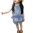 ieftine Pantaloni Băieți-Copil Fete De Bază / Șic Stradă Zilnic Carouri Fără manșon Regular Regular Bumbac / Poliester Set Îmbrăcăminte Roz Îmbujorat 100