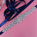 cheap Party Sashes-Satin / Tulle Wedding / Special Occasion Sash With Crystals / Rhinestones / Paillette Women's Sashes
