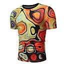 tanie Tupeciki-T-shirt Męskie Vintage / Podstawowy Bawełna Sport Okrągły dekolt Kolorowy blok Czarno-czerwony / Krótki rękaw
