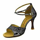 olcso Férfi csizmák-Női Latin cipők / Salsa cipők Csillogó flitter / Bőrutánzat Szandál / Magassarkúk Csat / Csokornyakkendő Személyre szabott sarok