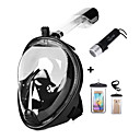 cheap Diving Masks, Snorkels & Fins-Diving Package - Waterproof Bag, Diving Mask, Diving Flashlight - Anti Fog, Dry Top Swimming, Diving, Snorkeling Silicon  For  Adults