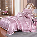 cheap High Quality Duvet Covers-Duvet Cover Sets Luxury Silk / Cotton Blend Jacquard 4 PieceBedding Sets / 500 / 4pcs (1 Duvet Cover, 1 Flat Sheet, 2 Shams)