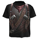cheap Totes-Men's Street chic / Military / Exaggerated Plus Size Cotton T-shirt - 3D Print / Short Sleeve