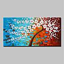 abordables Cuadros de Flores/Botánica-Pintura al óleo pintada a colgar Pintada a mano - Abstracto / Paisaje Modern Lona