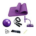 """זול High School Bags-כדור התעמלות / כדור יוגה עם מזרון יוגה / Jump Rope / רצועת התנגדות / תרגיל צינור 4 pcs 9.84""""(כ-25 ס""""מ) קוטר PVC / NBR ערכות, הכל באחד אימון כח, פיזיותרפיה, אימון התנגדות ל יוגה / פילאטיס / כושר גופני"""