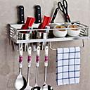 abordables Utensilios de cocina-accesorios del gabinete de la organización de la cocina acero inoxidable de alta calidad 1set