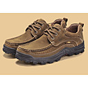 tanie Oksfordki męskie-Męskie Komfortowe buty Skóra Wiosna Oksfordki brązowy / Ciemnobrązowy