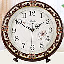 זול שעוני קיר מוטבעים בציורי קנבס-סגנון מודרני פלסטיק ומתכת / פלסטי עגול בבית / טבע,סוללות AA