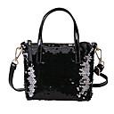 cheap Latin Shoes-Women's Bags PU Shoulder Bag Sequin / Zipper Black / Blushing Pink / Silver