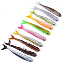 cheap Lighting Accessories-10 pcs Soft Bait Soft Bait Soft Plastic Outdoor Bait Casting / Lure Fishing / General Fishing