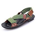ieftine Adidași Bărbați-Bărbați Pânză Vară Confortabili Sandale Maro / Verde Militar / Verde Închis