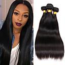 cheap Ombre Hair Weaves-4 Bundles Brazilian Hair Straight Virgin Human Hair Natural Color Hair Weaves 8-26 inch Human Hair Weaves 8a Human Hair Extensions