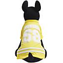 billige Hundeklær-Hunder / Katter / Kæledyr Trøye / T-skjorte Hundeklær Stripet / Bokstav & Nummer Gul / Rød / Blå Bomull Kostume For kjæledyr Herre
