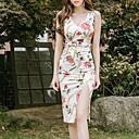 cheap Women's Heels-Women's Slim Sheath Dress - Geometric V Neck / Summer