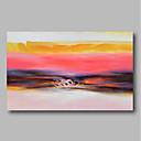 abordables Peintures Abstraites-Peinture à l'huile Hang-peint Peint à la main - Abstrait Paysage Contemporain Inclure cadre intérieur / Toile tendue
