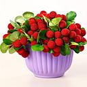 זול פרחים מלאכותיים-פרחים מלאכותיים 1 ענף כפרי פירות פרחים לשולחן