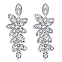 cheap Necklaces-Crystal Chandelier Drop Earrings - Leaf Fashion, Elegant Silver For Wedding Party / Evening