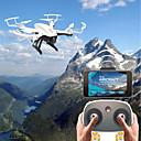 povoljno RC Quadcopteri i Multi-Rotori-RC Dron F20G&F20W BNF 4 Kanala 6 OS 2.4G S HD kamerom 2.0MP 720P RC quadcopter FPV / Povratak S Jednom Tipkom / Izravna Kontrola RC
