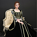 cheap Historical & Vintage Costumes-Princess Renaissance Costume Women's Dress / Outfits / Party Costume Black Vintage Cosplay Polyster 3/4 Length Sleeve Puff / Balloon