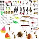 cheap Fishing Lures & Flies-101 pcs Lure kits Soft Bait / Buzzbait & Spinnerbait / Spoons Plastics / Metal Sea Fishing / Bait Casting / Lure Fishing