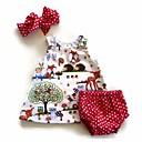 ieftine Set Îmbrăcăminte Bebeluși-Bebelus Fete Activ Imprimeu Fără manșon Lung Bumbac Set Îmbrăcăminte / Copil